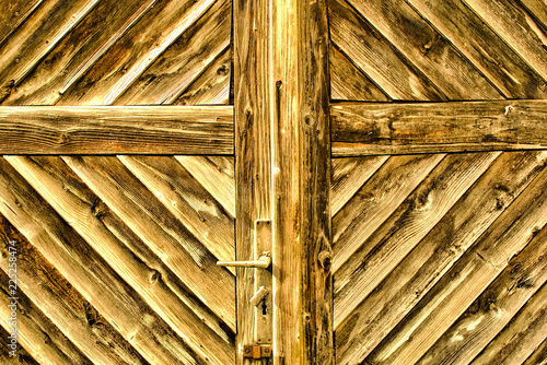 Old wooden door as a background - 225258474