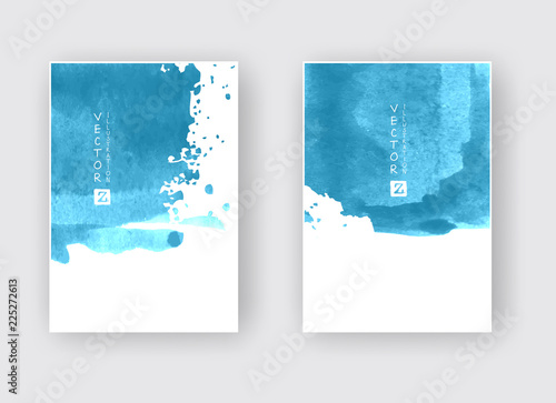 Elegant brochure template design ink brush element © sdmix