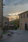 Italian street in Toscana. Volpaia, Tuscany, Italy
