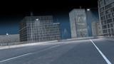 leere Straße in der Stadt bei Nacht