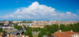 Panorama of Rome at bright summer day