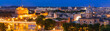 Panorama of Rome at night
