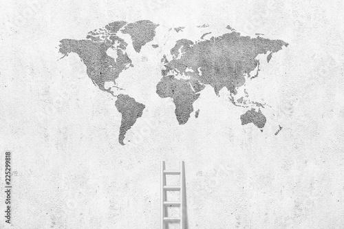 Leinwanddruck Bild ladder