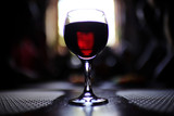 Serving a glass of red wine in a restaurant - 225303841