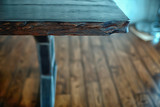 furniture table wood metal loft / design countertop, aged wood and metal table design - 225306478