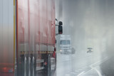 Trucks road logistic sky traffic - 225310088