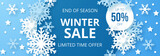 Winter sale banner. Origami snowfall. Vector Illustration. - 225316660