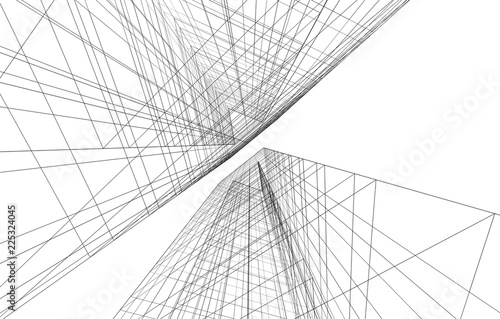 architecture geometric background - 225324045