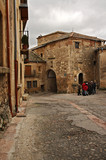 Streets of the cobblestone village of Pedraza, Spain
