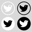 Set bird icon. EPS 10