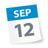 September 12 - Calendar Icon - 225343818