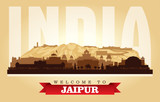 Jaipur India city skyline vector silhouette