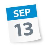 September 13 - Calendar Icon - 225343867