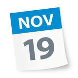 November 19 - Calendar Icon - 225347277
