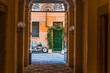 Quadro Picturesque doorway in Rome