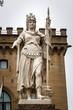 Freiheitsstatue (Statua della Libertà) am Platz Palazzo Pubblico in San Marino