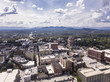 Quadro High angle aerial view of downtown Asheville, North Carolina.