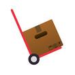 packing box carton in cart