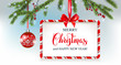 Winter holiday banner and ball - 225411060