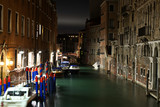 Cloudy night in Venice, Italy.