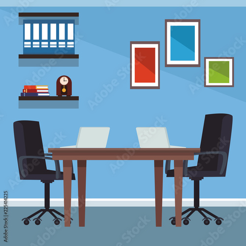Poster Office interior scenery