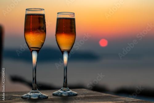 Drinks at Sunset, Santorini Greece