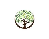 family tree ilustration logo template
