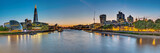Panorama of the river Thames in London with the skyscrapers of the City and the Tower
