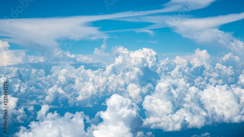 clouds in the sky from high angle. - 225444274