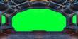 Leinwandbild Motiv Grunge Spaceship interior background 3D rendering