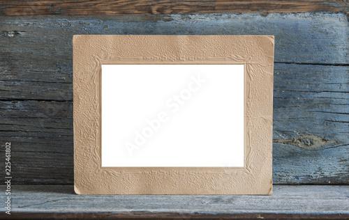 Blank photo frame on the table - 225461802