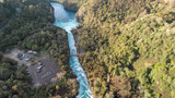 Aerial panoramic view of Huka Falls landscape, Taupo - New Zealand - 225463616