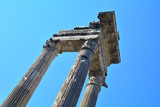 Ancient Roman columns of the Marcello theater in Rome, Italy.
