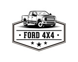 Ford F150 Pickup Truck Sign Symbol Vintage Logo Vector