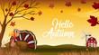 Hello autumn thanks giving card