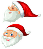 Front and side of santa head - 225473096