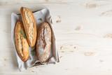 Homemade bread with rosemary - 225475287