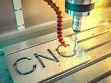 3d rendering of cnc machine