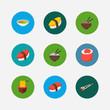 Sushi icons set. Unagi nigin and sushi icons with maguro nigiri, ikura roll and soup. Set of tradition for web app logo UI design.