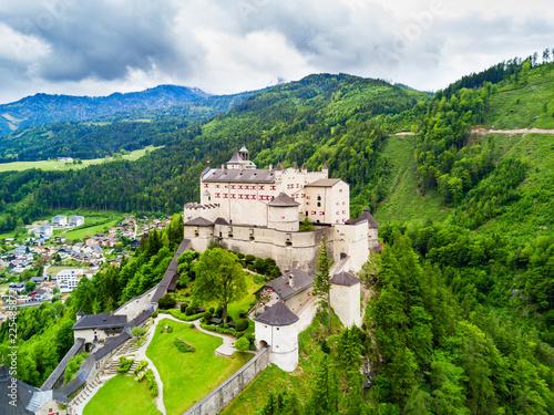 Leinwandbild Motiv Hohenwerfen Castle aerial view