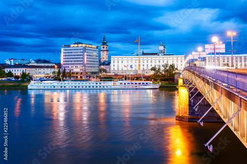 Leinwanddruck Bild Linz, Danube river, Austria
