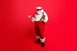 Leinwanddruck Bild - Full length body size of cheerful positive optimistic glad Santa