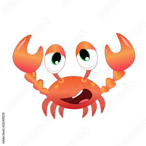 Funny crab vector illustration