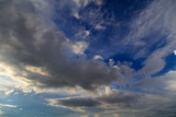 Clouds in the sky at sunset as background - 225520667