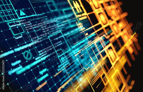 Fridge magnet Complex Futuristic Information Data