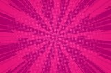 Comic dynamic pink background - 225527088