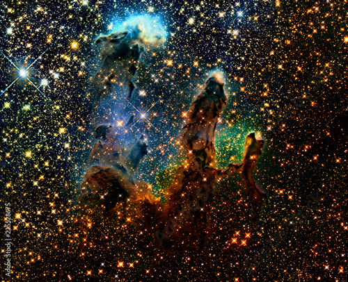 Nebula in deep space. Elements of this image furnished by NASA - 225528675