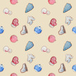 seamless pattern with watercolor cookies - 225533657