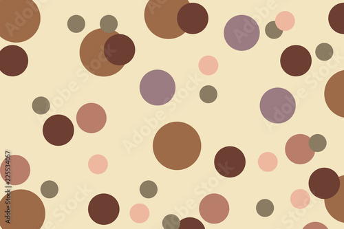 Fototapeta Rounds and circles Simply geometric pattern. Copy space for your logo text and design. Abstract background