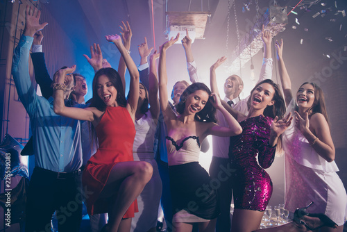 Leinwanddruck Bild Welcome to the best night party! Leisure, lifestyle, careless, c